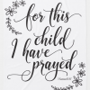 For This Child I Have Prayed Verse Baby Blanket