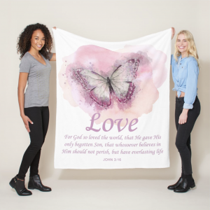 Bible Verse Blanket For God So Loved The World